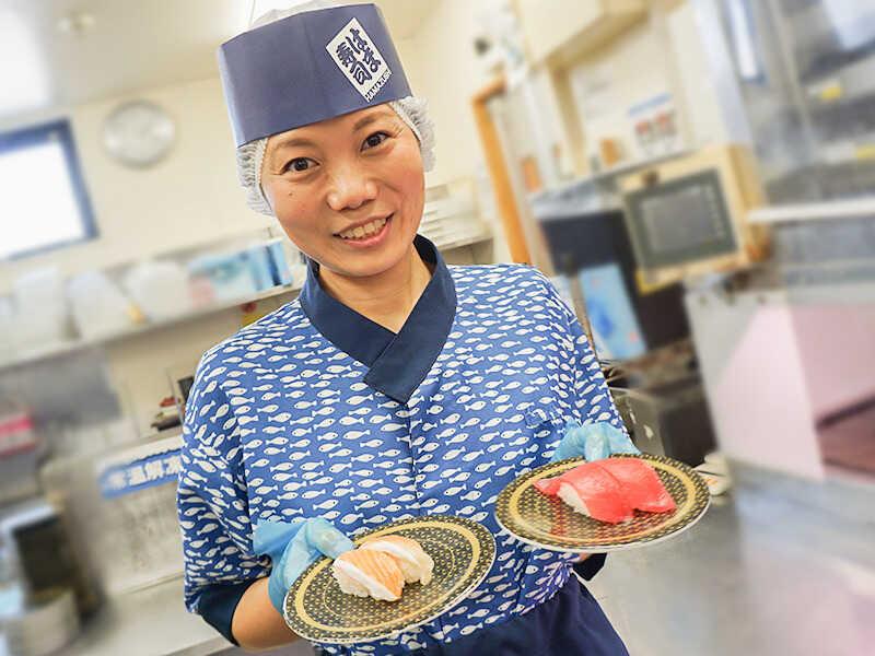 お寿司屋さんの裏側を見れるお仕事